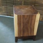 side table full wood cube