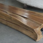 coffee table made with teak tree