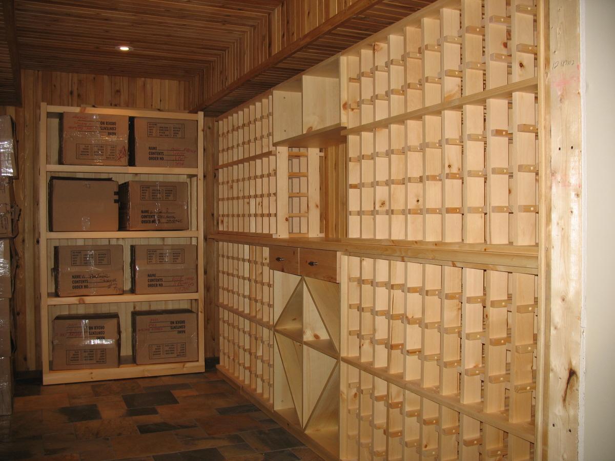 Pine cellar